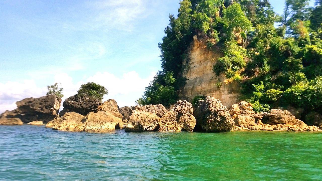 Rock Rock Formation Island Sea Sea View Green Sea