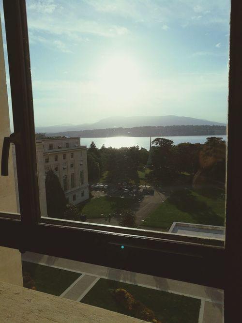 Sun Soleil☀️ Journey Bon Jour :-* Geneva Lake Window Indoors  Sunny Day River Water Good Day :)