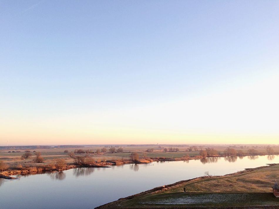 Water Nature Elbe River Clear Sky No People Beauty In Nature Scenics Outdoors River Panorama Dike Embankment Sky Landscape Day