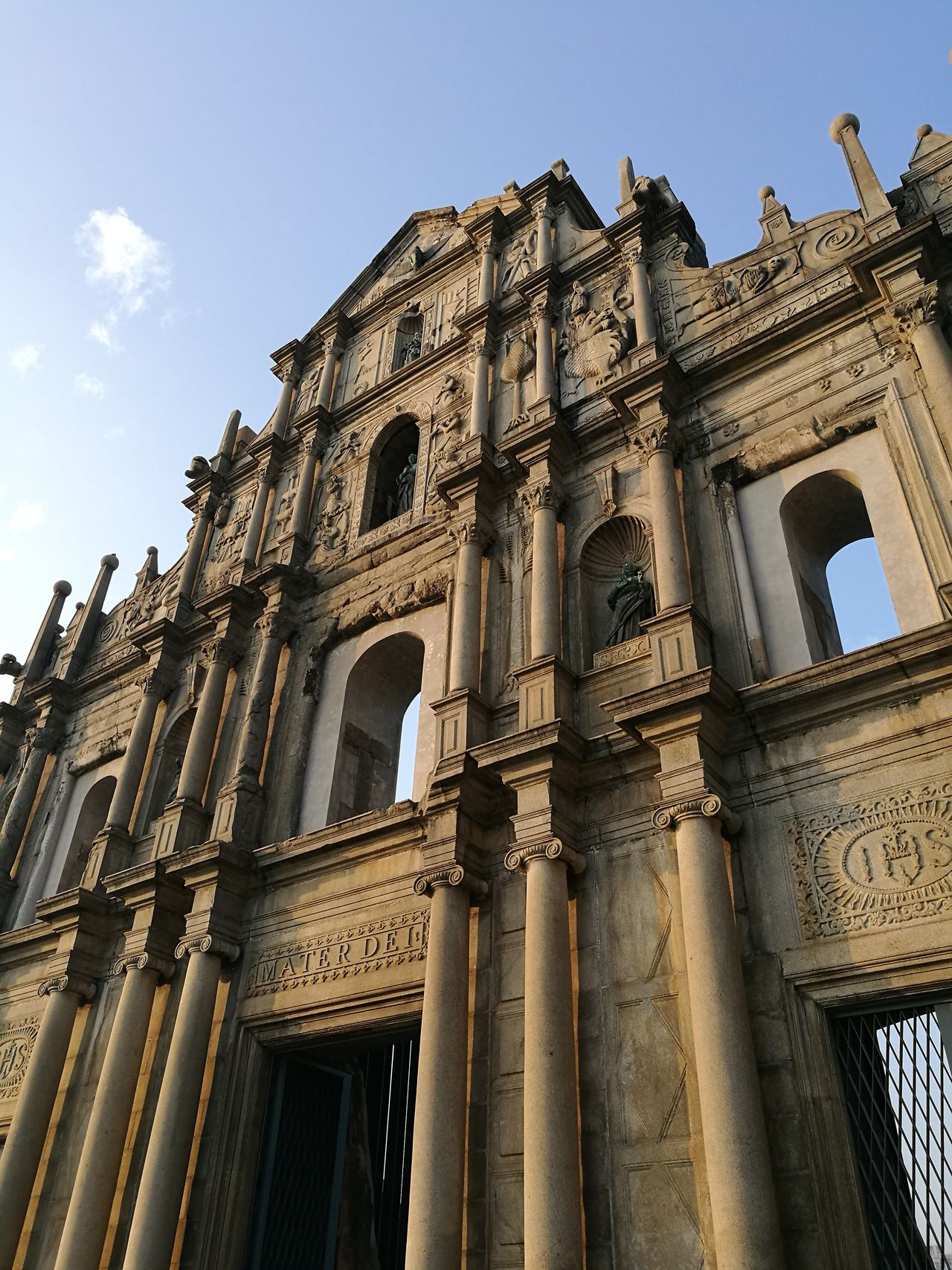 Travel Destinations History City Architecture Building Exterior No People Government Low Angle View Outdoors Clock Sky Day façade church macao ruinsofstpaul