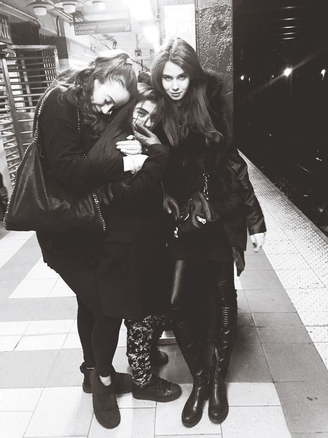 3 weirdos in the subway