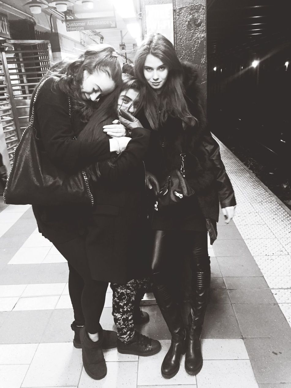 3 weirdos in the subway