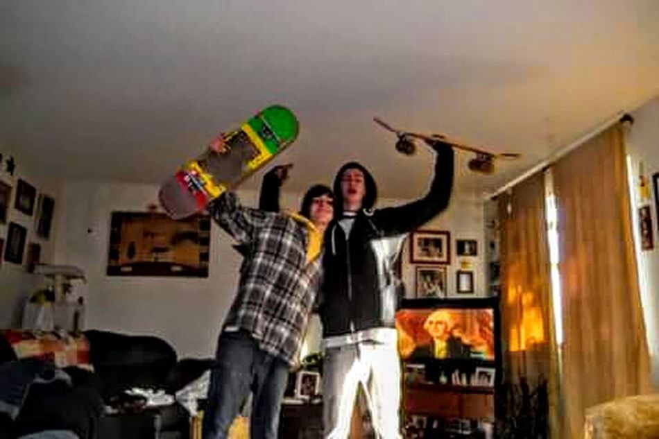 Skater Punks Sk8er Hoodlums Dudes Being Dudes George Washington Livingroomview Crazy Friends Best Buds Skate Or Die ! Thrasher Home Is Where The Art Is Capture The Moment Athleisure Two Is Better Than One