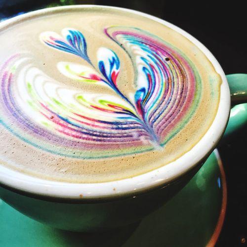 Rainbow Nutella Latte Rainbow Latte Vegas  Latte Art Nutella Las Vegas