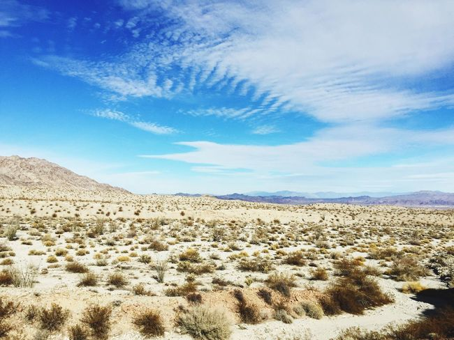 Desert Landscape Endless Perspectives Sky And Clouds Beauty In Nature Mountains And Sky No People Isolation