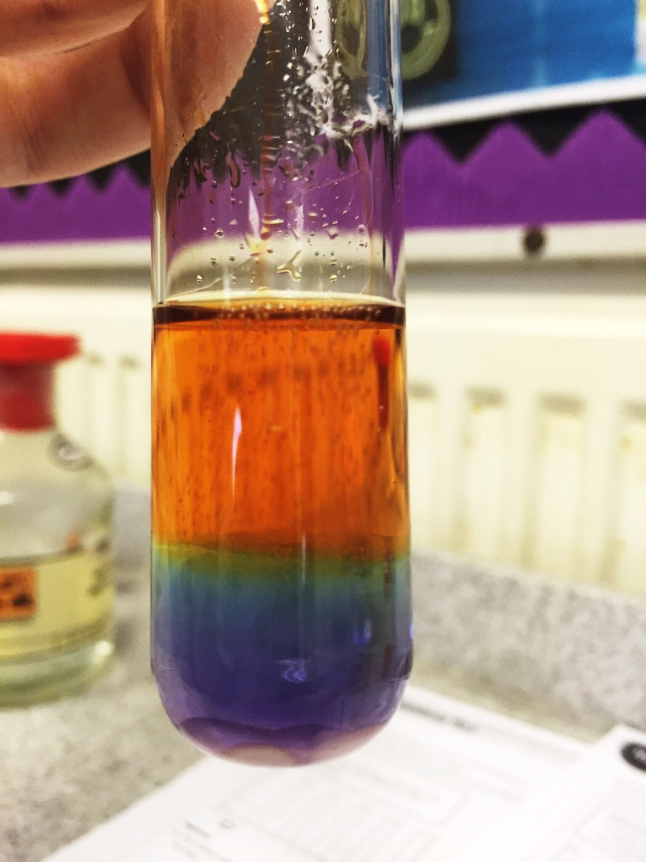 Acids Alkaline Rainbow Chemistry Testtube Science