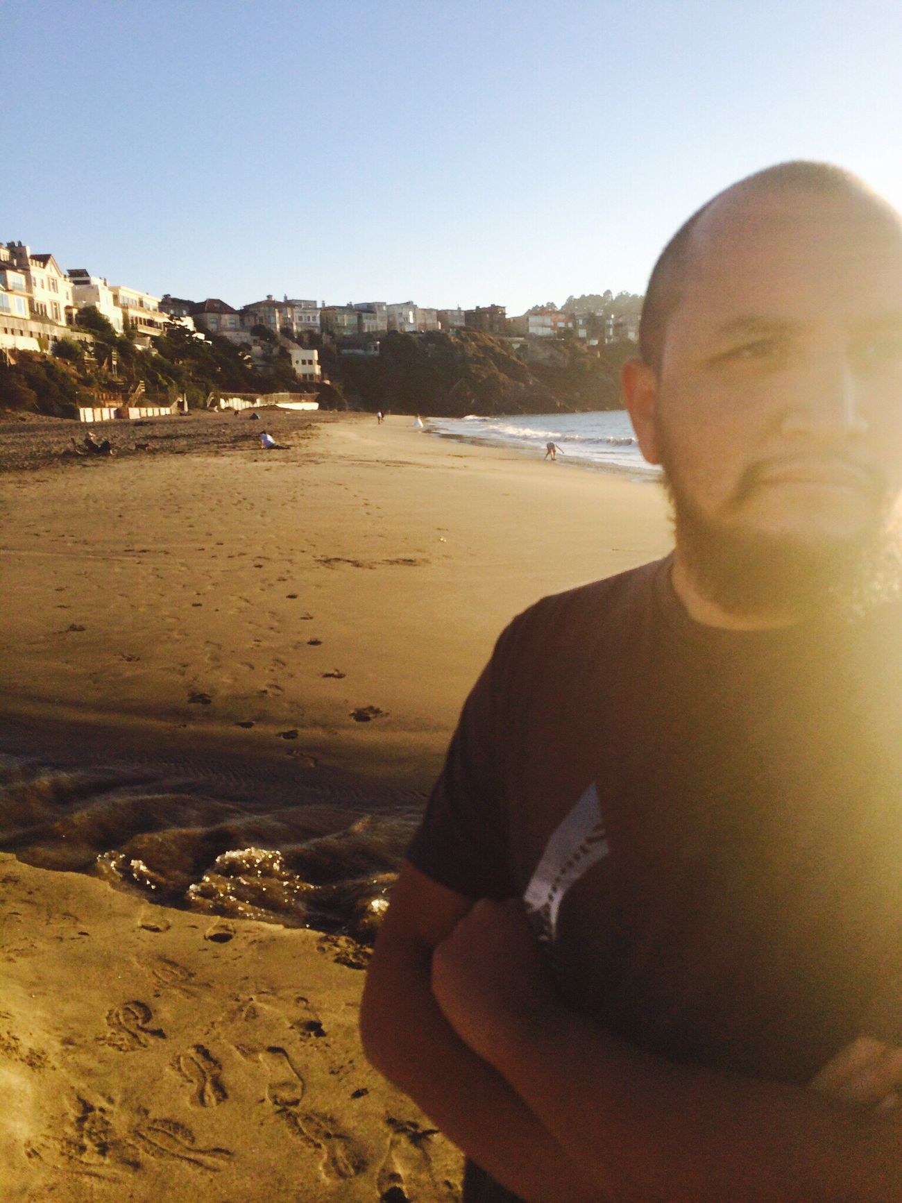 Random shot taken at baker beach in San Francisco ,ca. Annoyed him for pointing the camera in his direction . #nofilter#noedit