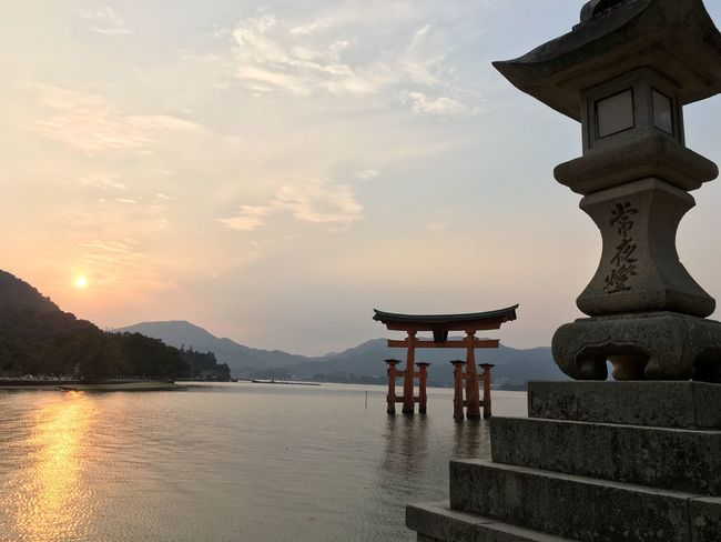 Sunset TORII Japan Hiroshima Nofilter