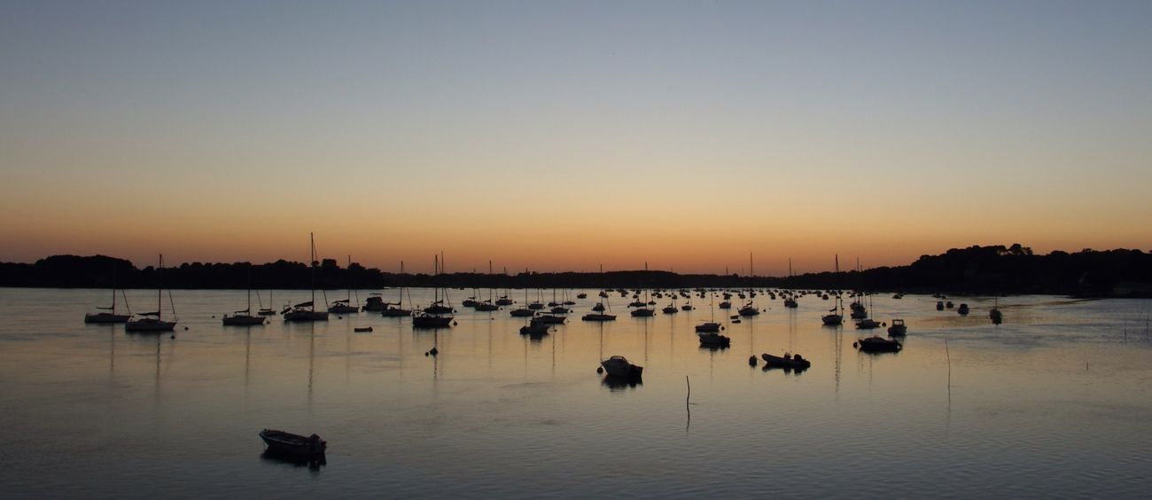 Brittany Colorsofmorbihan tip of Arradon  just after the Sunset
