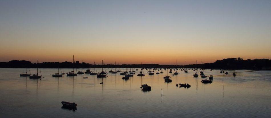 Brittany Colorsofmorbihan tip of Arradon  just after the Sunset