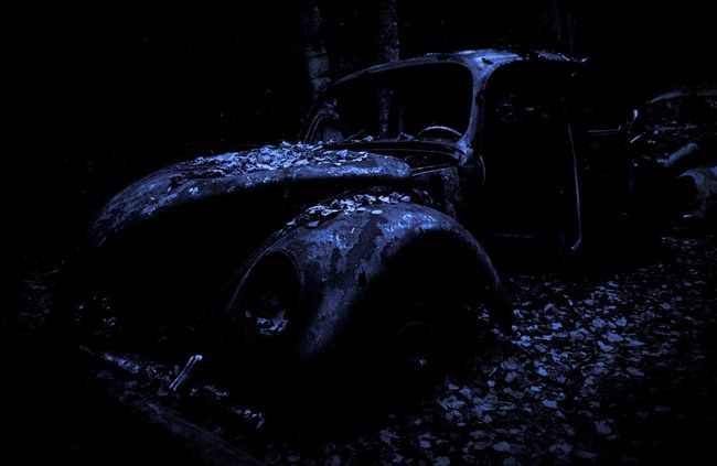 Bubble Cold Temperature Rusty Autos The End Of The Road  Fall VW Beetle Wreck Car Night Transportation No People Outdoors Nature Beauty In Nature Old Car Veteran Fall