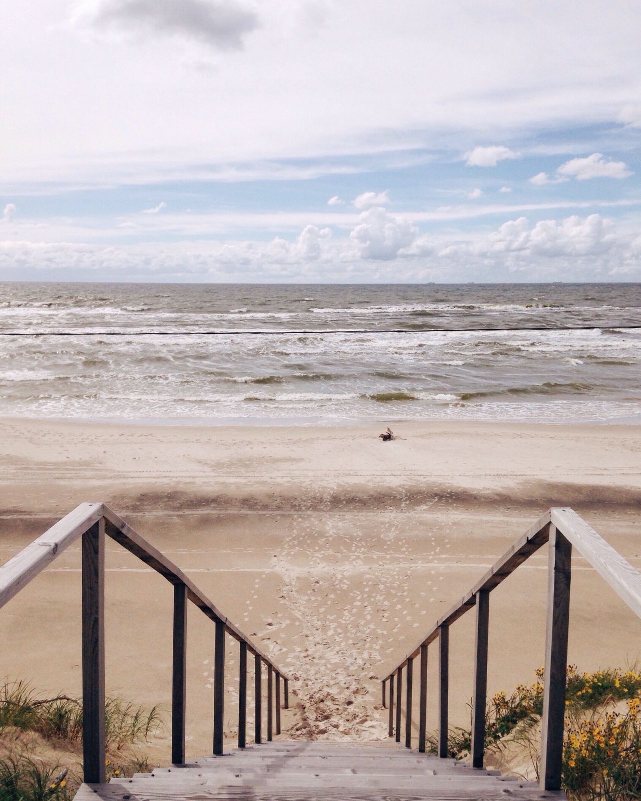 View on a Baltic sea Sea Beach Horizon Over Water Sand Nature Water Beauty In Nature Tranquility Outdoors No People Perspective Calm Baltic Baltic Sea
