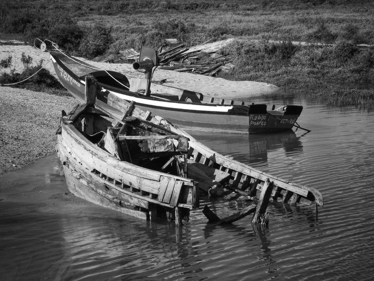 Abandoned Boat Boats Check This Out Day EyeEm Best Shots Mode Of Transport Moored Moorland Moors Nature Nautical Vessel No People Outdoors Rippled Water Riverside Run-down Shipwreck Shipwrecked Shore Solitude Transportation Water Weathered Wooden Boat My Year My View