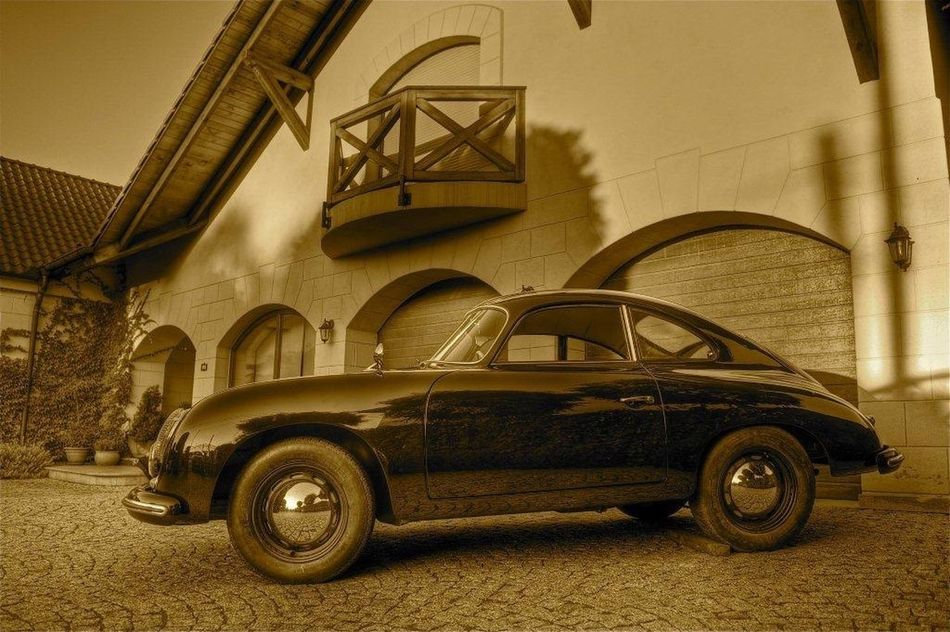 Car Cars Old Car Old Cars PORSCHE 356 A PORSCHE 356 Porsche Sepia