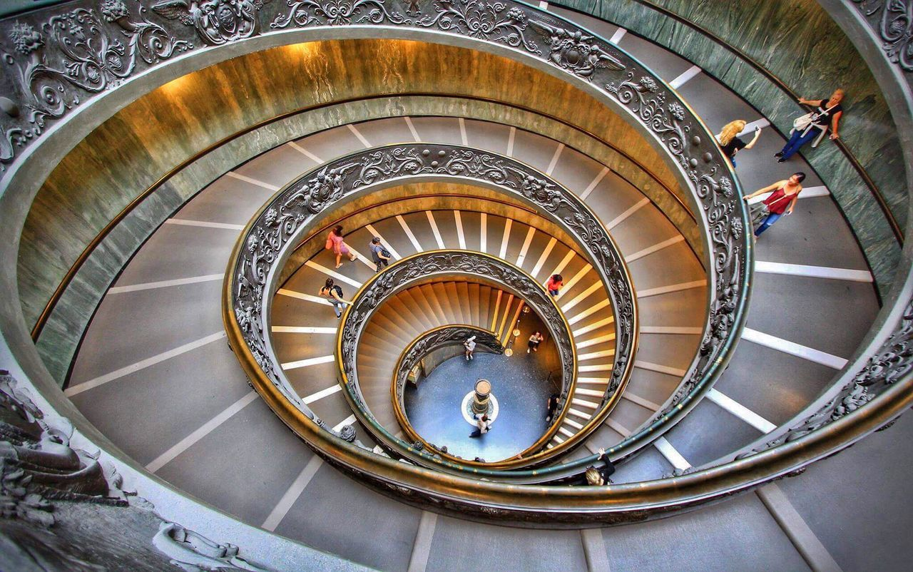 Vatican City Railing Staircase Spiral Steps And Staircases Architecture Steps Built Structure Spiral Staircase High Angle View Stairs Spiral Stairs No People Italy Rome Italy Vatican Vatican City First Eyeem Photo EyeEmNewHere EyeEmNewHere