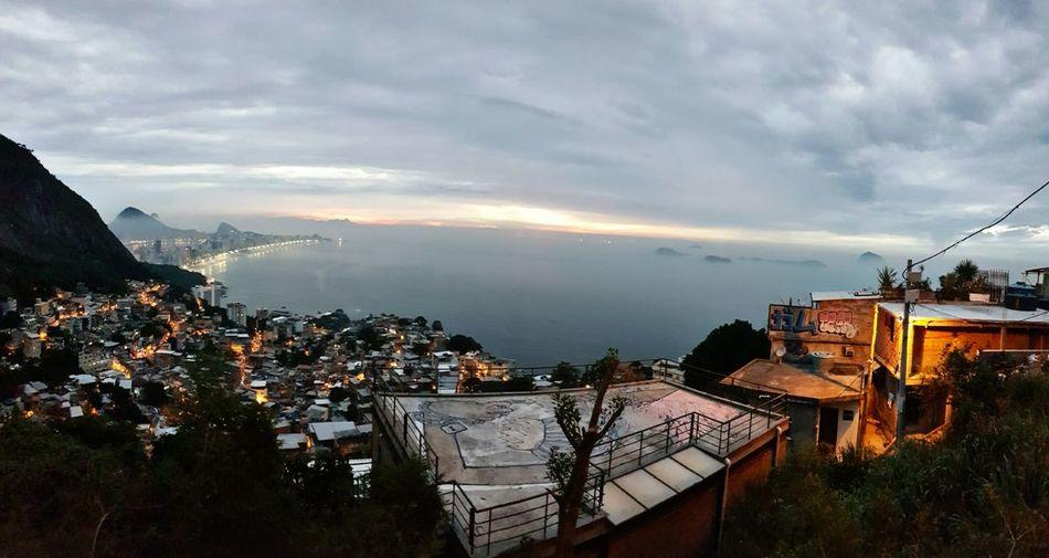 RJ riodejaneiro Favela vidigal Brasil Rio Sky Vacations Travel Destinations Inspiration Nature Night City Cityscape Cloud - Sky No People Art