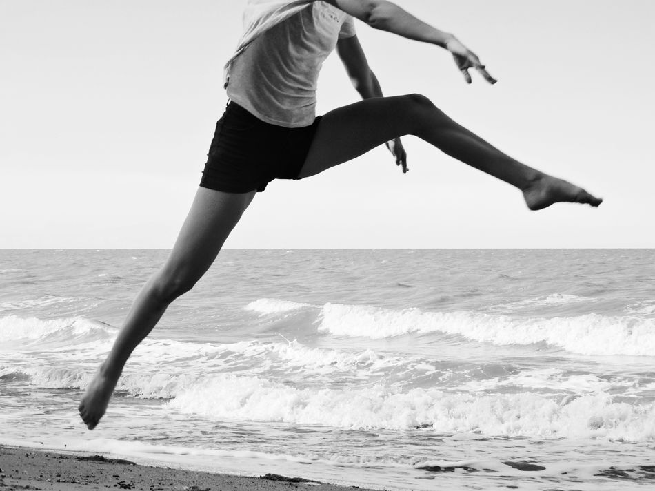 Welcome To Black Endurance Strength Young Healthy Healthy Lifestyle Sand Water Jumping Sports Sport Athletic Slim Woman Sportive Motion Vitality Athlete Mid-air Energy Leisure Activity Lifestyles Beach Running Sprinting