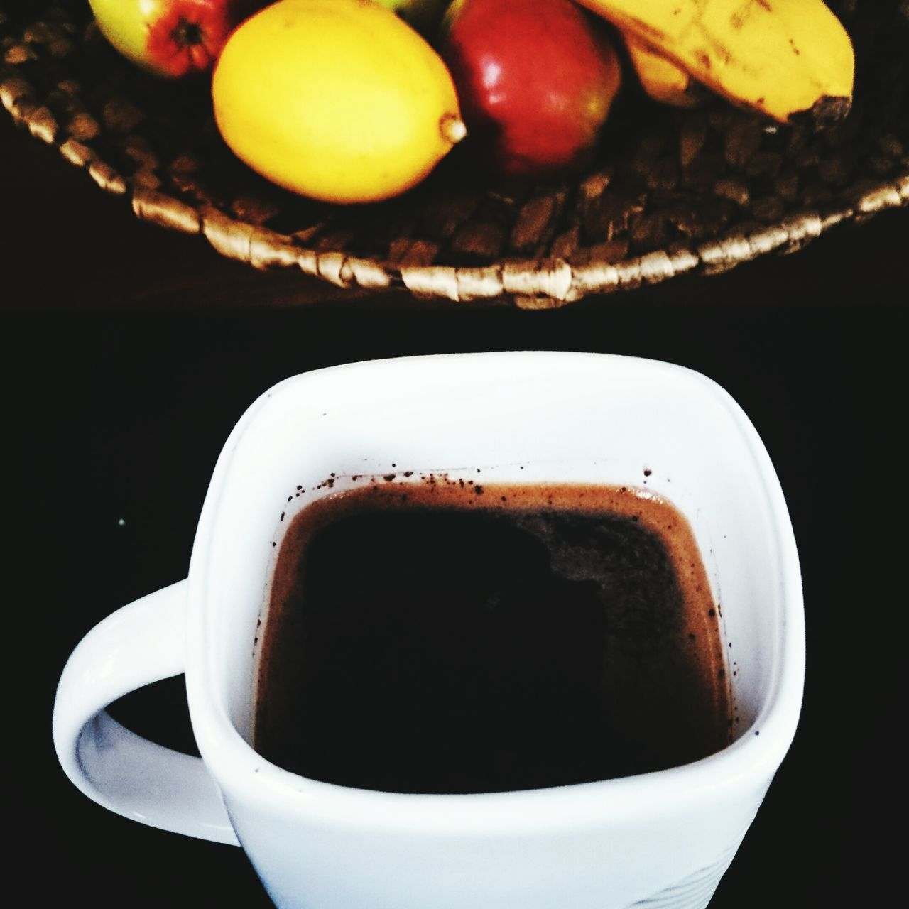 food and drink, drink, coffee cup, coffee - drink, refreshment, freshness, cup, close-up, no people, food, frothy drink, indoors, table, heat - temperature, healthy eating, black background, day