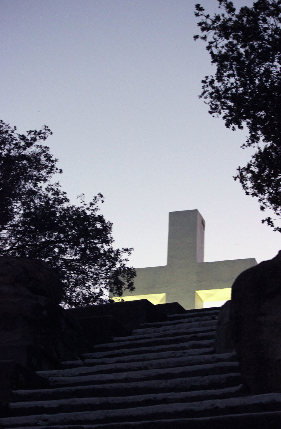 Architecture Backlit Clear Sky Cross Cross And The Trees Cross At Dusk Cross On The Mountain Stairway And The Cross Stairway To Heaven Easter Ready