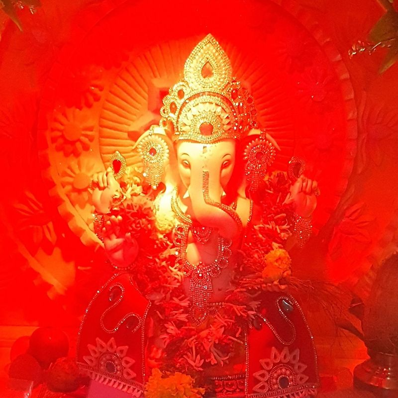 GaneshChaturthi Ganesha Ganeshotsav Ganesha Lord Of Success Ganesha Idols Ganesh Puja Divine Blessed  Worship Faith The light of divinity. May we all be blessed.