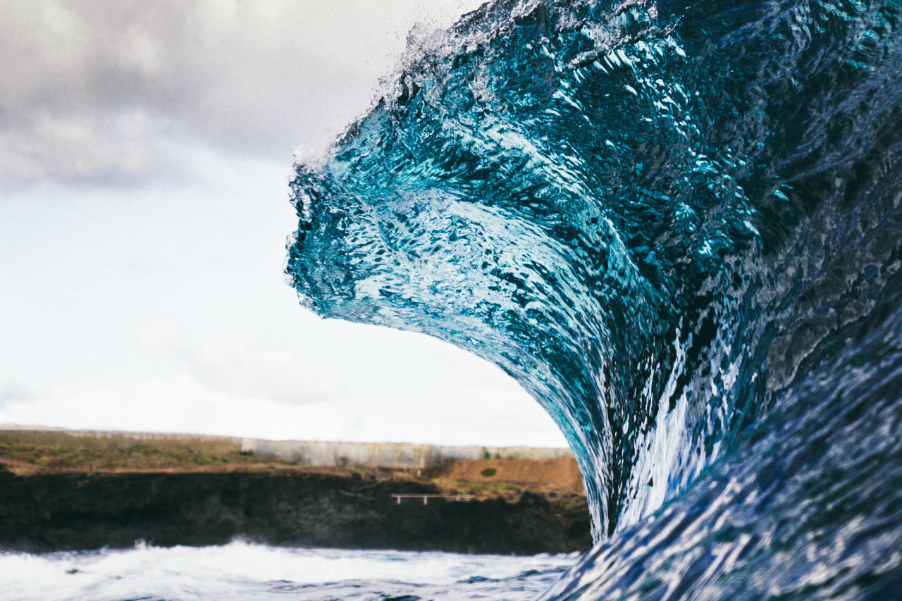 Beauty In Nature Canary Islands Day Eye4photography  EyeEm Best Shots EyeEm Nature Lover Motion Nature No People Ocean Ocean Waves Outdoors Overcast Power Power In Nature Scenics Sea Surf Surfing Tenerife Water Wave Wave Waves Waves, Ocean, Nature