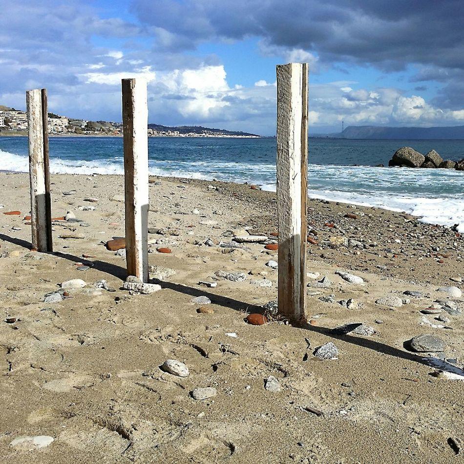 Nuovole Cielo Mare Strettodimessina Sabbiaescogli Beach Sea