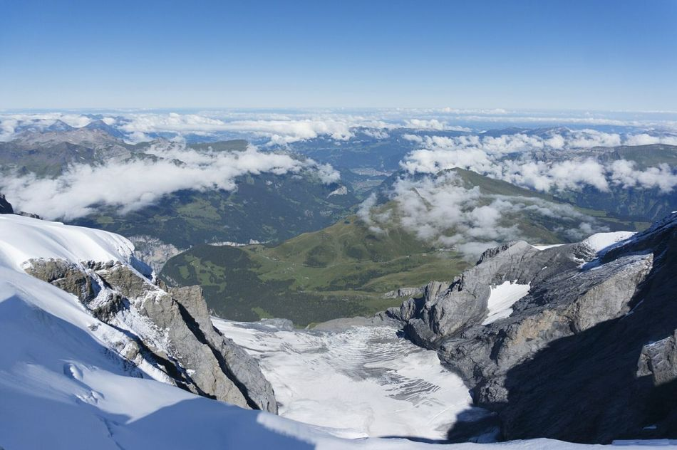 Winter Snow Landscape Travel Aerial View Mountain Scenics Travel Destinations Nature Beauty In Nature Outdoors Swiss Swizerland Jungfrau Jungfrau - Top Of Europe No People