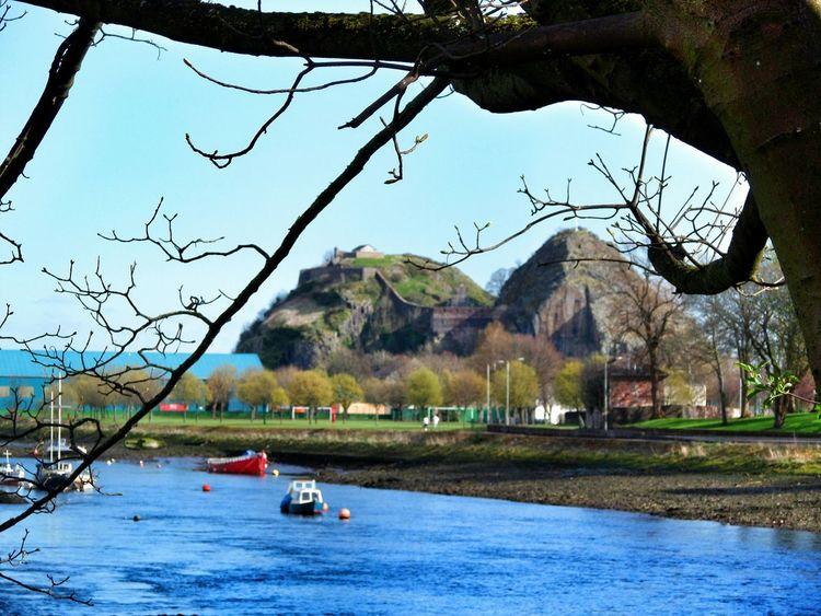 River Leven River View Riverside Scotland Scenic Scenery Dumbarton Castle Dumbarton Rock