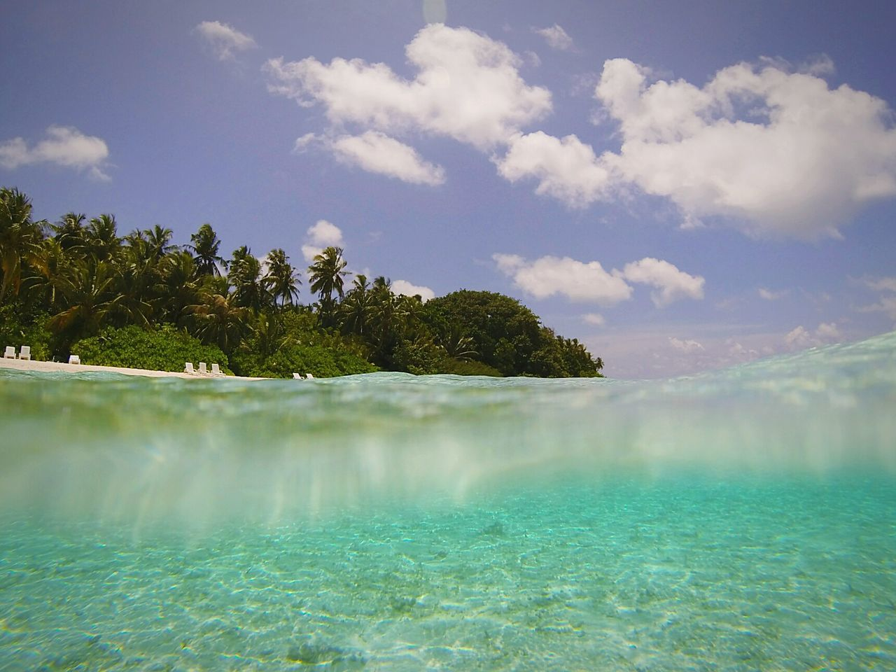 Holidays ☀ Maldives Biyadhooislandresort Inandout Waterscape Watersurface Beauty In Nature Cloud - Sky Landscape Sunnyday Igworldclub Goprohero3 Goprophotography Goprolife Goprowater Goproblackedition Goprouniverse BeautifulShot Relax Love ♥ IGDaily Picoftheday No People Standing Water Scenics