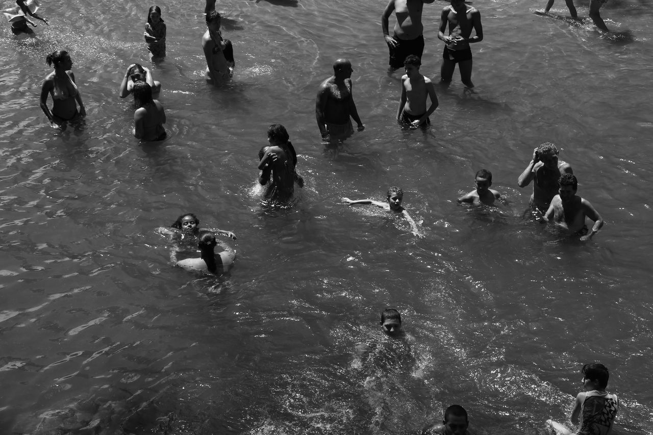 Live For The Story B&WPhoto Lake Water Vacations Swimming Time Children Playing Sunday Morning