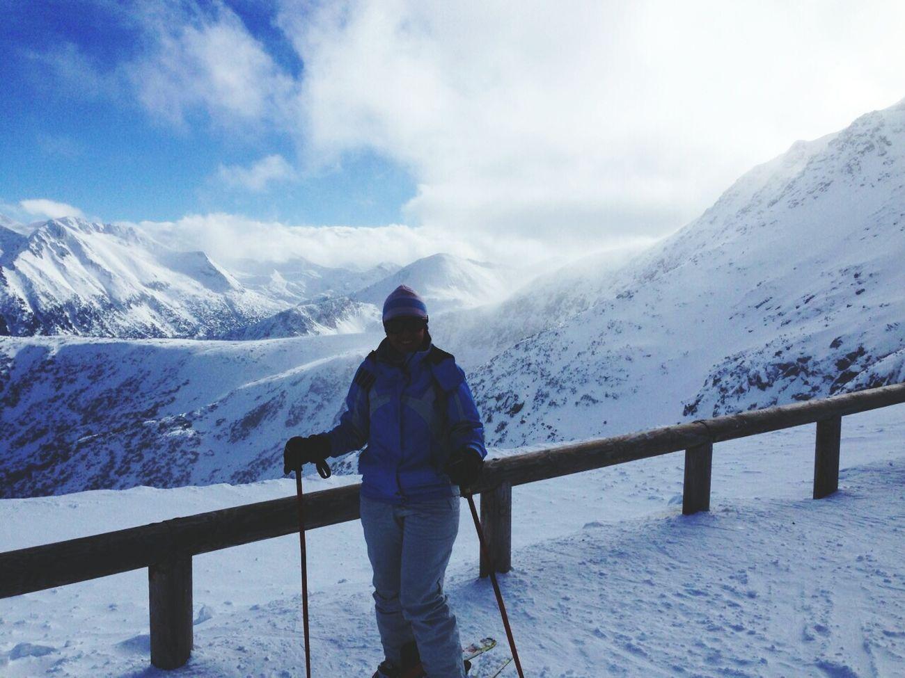 Skiing Enjoying The View