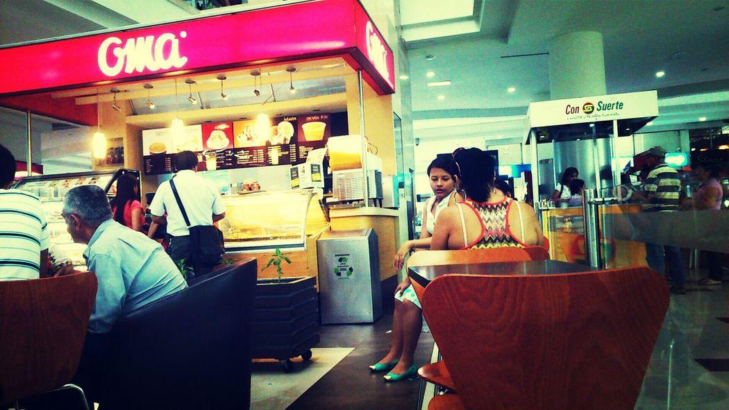 Coffee Shop Oma Bored Taking Photos