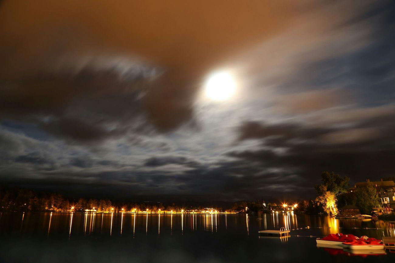 Moonlight Landscape Long Exposure