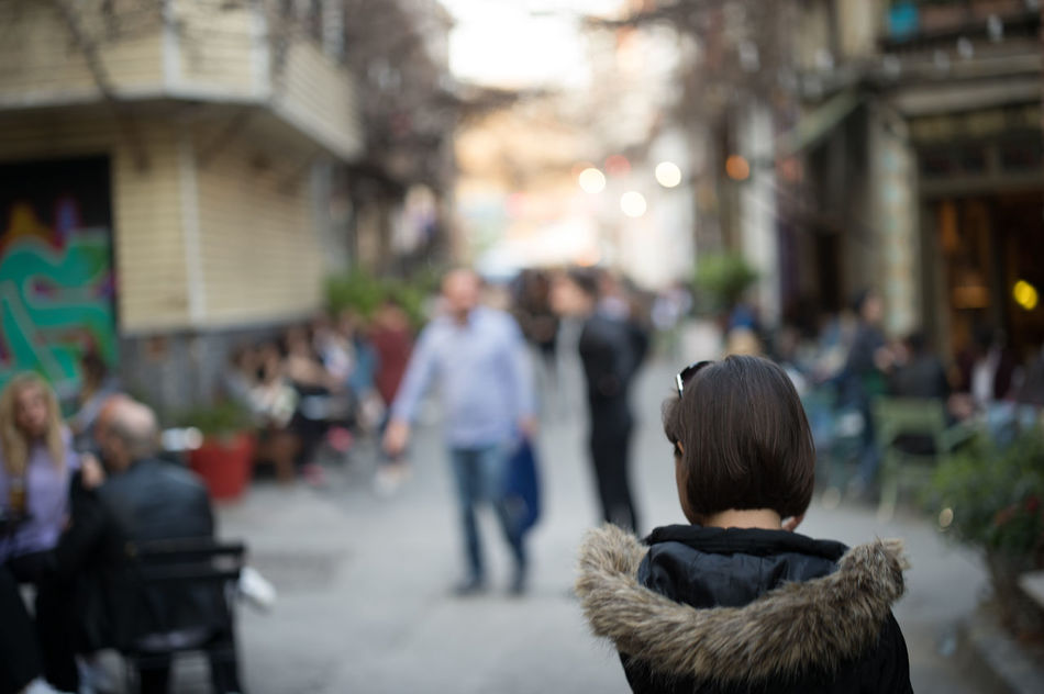 Walking on the Streets of Karaköy Architecture Bokeh City City City Life Crowd Day Focus On Foreground Istanbul Karaköy Large Group Of People Outdoors People Real People Rear View Street Street Photography Streetphotography Woman Women