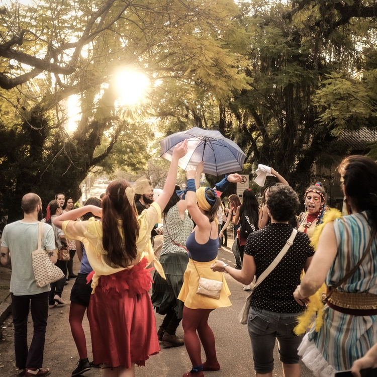 street carnival of young students in Brazil Afternoon Sun Breaks Through The Trees Afternoon Sunlight Carnival Come Together Dance Dressing Up Enjoy Life Enjoying Life Friends Have Fun Large Group Of People Leisure Activity Lifestyles Magic Moments Move