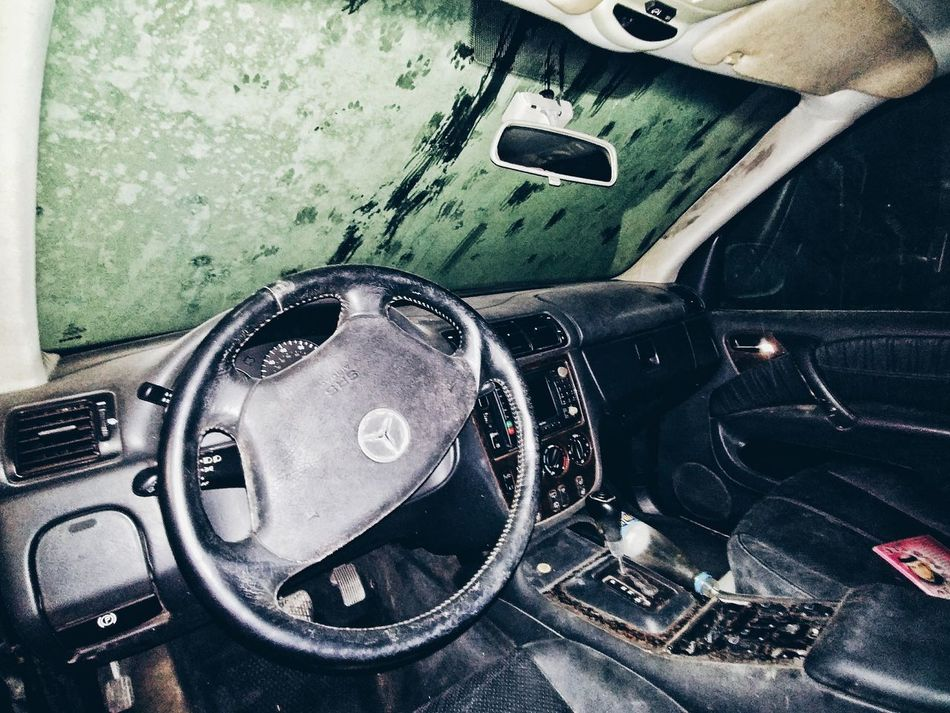 Abandoned car interior Leather Interior Mercedes-Benz Mercedes Dirt Dust Abandoned Abandoned Car Abandoned Cars Newyork Licence Plate VSCO Vscocam No People Indoors  Close-up Day Technology