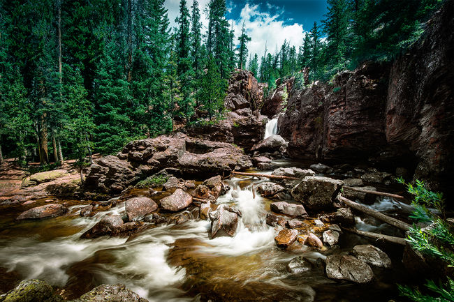 The raging waters of Adams Falls near Rocky Mountain National Park. Adams Falls Beauty In Nature Colorado Flowing Flowing Water Nature Outdoors Rocky Mountains Rocky Mountains USA Stream Tranquil Scene Water Waterfall