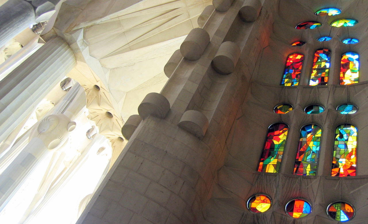 Architecture Barcelona Day Gaudi Low Angle View Multi Colored No People Outdoors S Travel Destinations