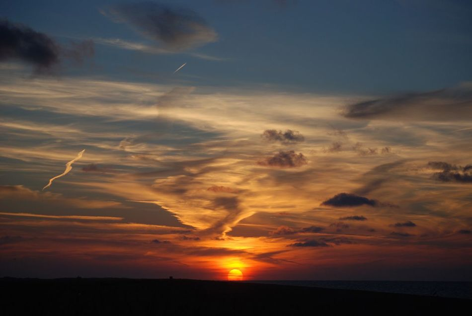 Sunset Sky Cloud - Sky Nature Beauty In Nature Scenics Tranquil Scene Tranquility Silhouette Idyllic Outdoors No People Landscape Day