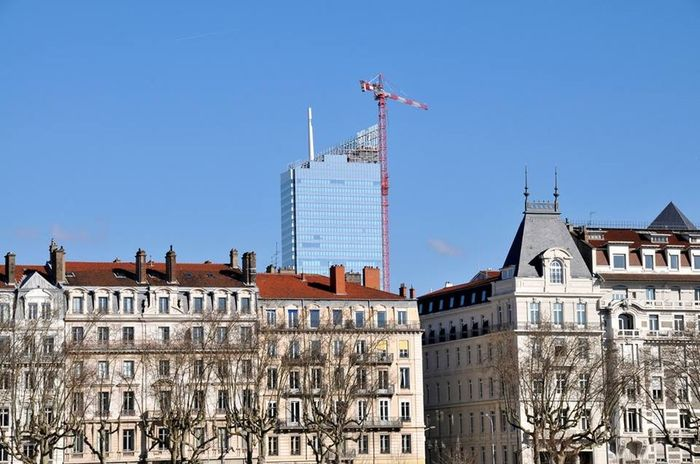 Cobalt Blue By Motorola Lyon Eyelyon Looking Into The Future Kran Only Lyon Architecture Construction