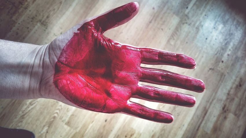 Caught Red Handed Red Colours Hand Gruesome Gothic Dark