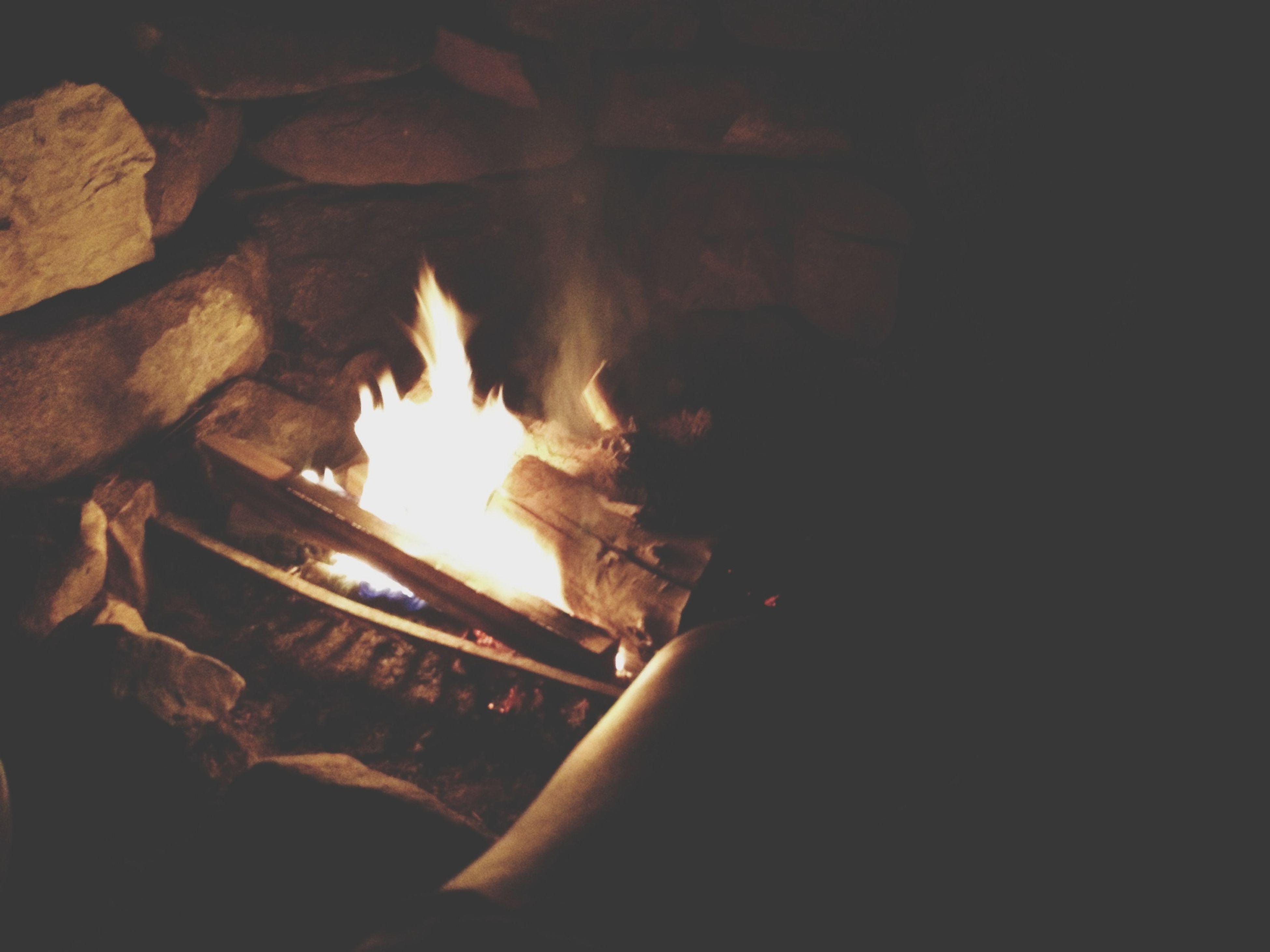 flame, burning, fire - natural phenomenon, heat - temperature, fire, glowing, night, bonfire, heat, firewood, indoors, illuminated, dark, close-up, campfire, light - natural phenomenon, candle, fireplace, no people