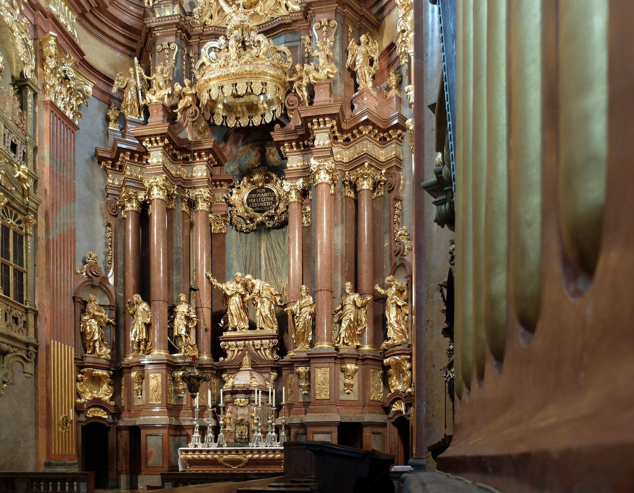 Altar Church Melk Day Gold Colored Indoors  Klioster Melk Melancholic Landscapes No People Place Of Worship Religion Sculpture Spirituality Statue STIFT MELK Wealth