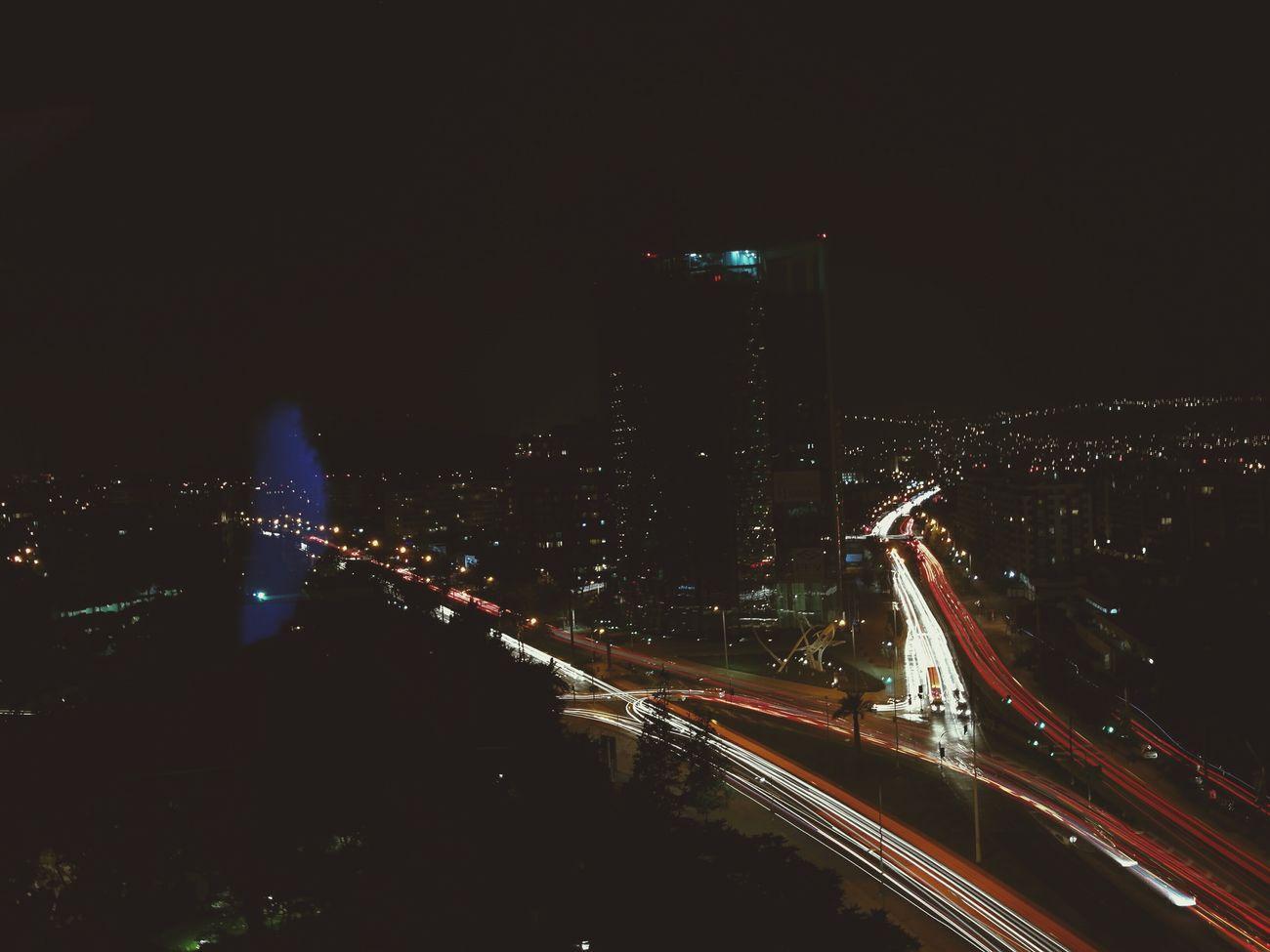 The beauty of Santiago city at night Night Illuminated City Nightlife First Eyeem Photo