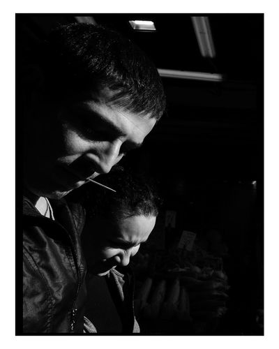 Brothers EyeNewHere Street Streetlife Streetplay Blackandwhite City Streetphotographynow Urban Candid Black And White Editor Portrait Portrait Photography Citylife Streetphotography Adults Only Only Women One Person One Woman Only One Young Woman Only Young Adult Adult