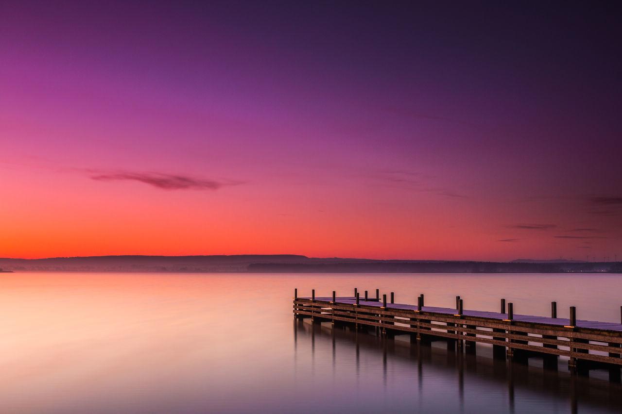 Beautiful stock photos of sunset, Germany, Horizontal Image, Muhr am See, Neighborhood