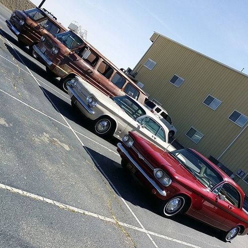 Bertha and some of her new Friends . Chevy Chevrolet corvair greenbriar vanlife