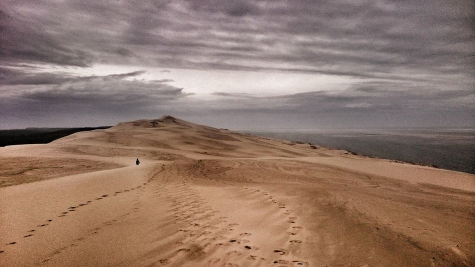 Sand Sand Dune Nature Tranquility Desert Beauty In Nature Beach Outdoors Landscapes Landscape Scenics Arid Climate No People Dune Du Pyla Tranquil Scene Pyla Sky And Clouds Miles Away Dune Du Pilat
