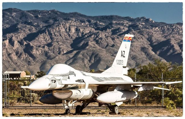 It's a beautiful Thursday morning at the Boneyard with this beautiful Falcon. USAF Boneyard Aircraft Sunrise
