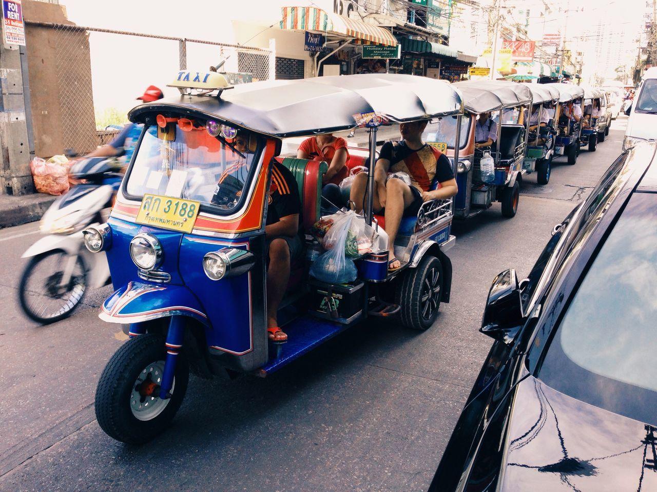 Field trip convoy? Bangkok Sukhumvit 22 Thai Thailand TukTuk